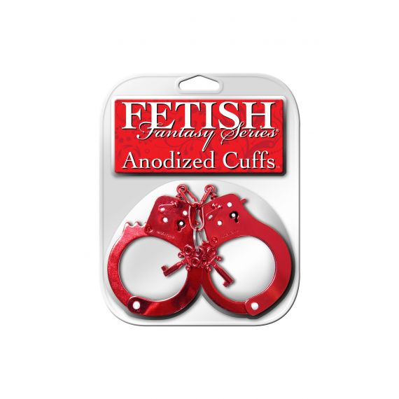 Fetish fantasy Series -  Anodized Cuffs (red)
