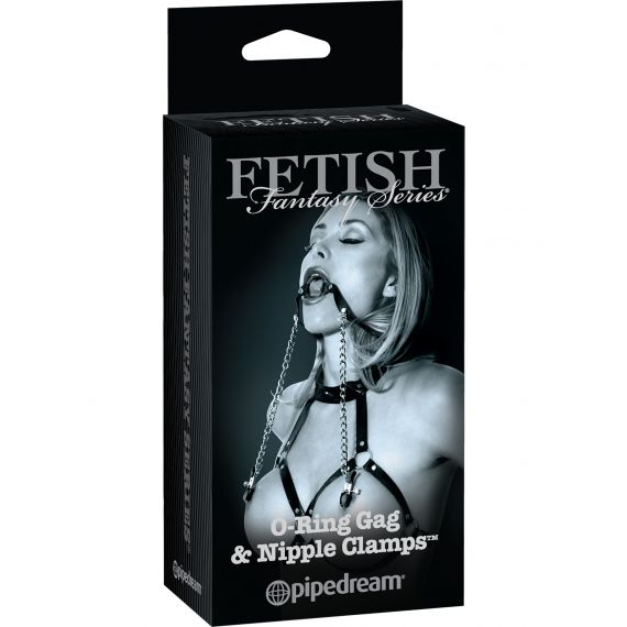 Fetish Fantasy Limited Edition - O-Ring with Nipple Clamps