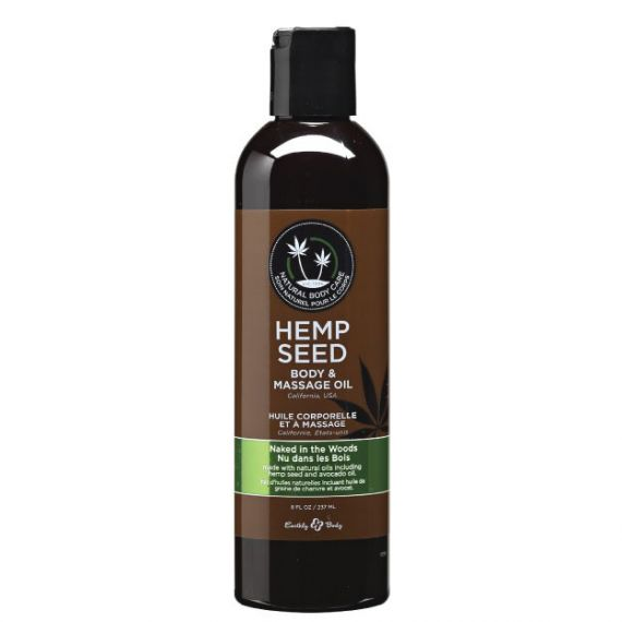 Earthly Body - Hemp body & massage oil(Naked in the Woods) 8 oz