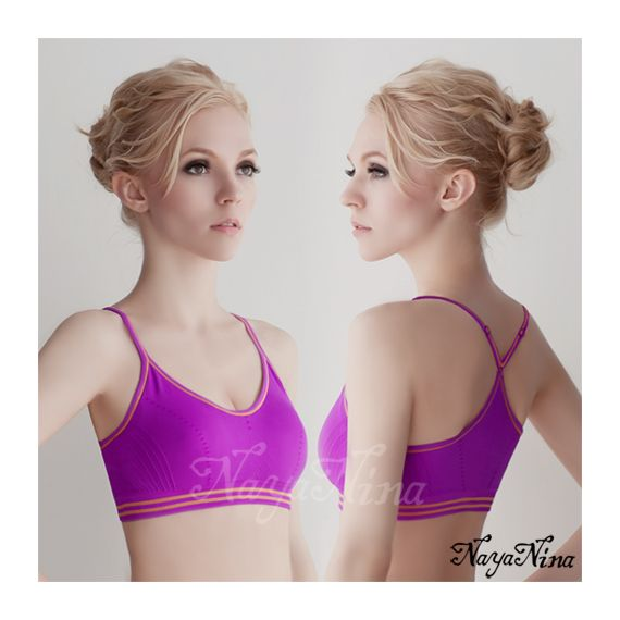 Anna Mu - Yoga Master Young Innocent Purple Sports Bra