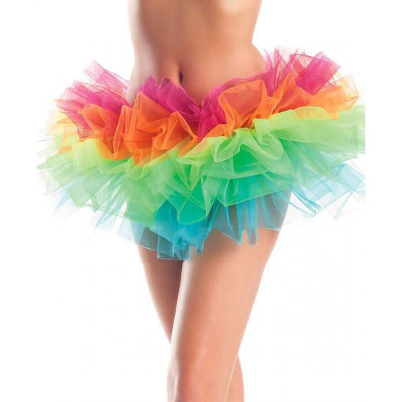 Be Wicked - Rainbow Organza Petticoat Tutu Skirt (Halloween Party)