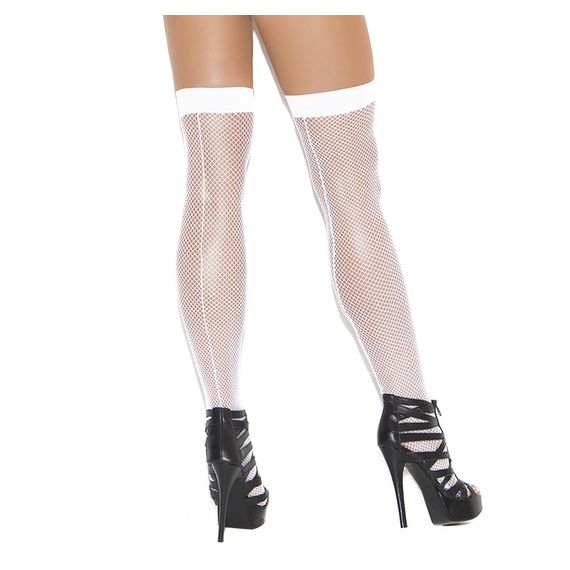 Elegant Moments - Fishnet Thigh-High with Back Seam